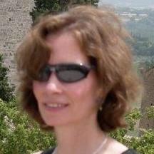 Ann at la Rocca, San Gimignano 6-20-06